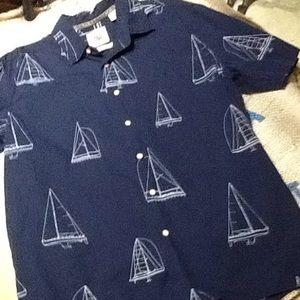 Pusser's West Indies Sail Boat Shirt.